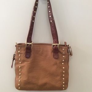 Zina Eva Dante Leather Saddle Bag